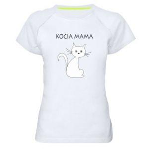 Women's sports t-shirt Cats mother