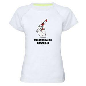 Damska koszulka sportowa Kolor mojego nastroju