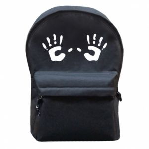 Plecak z przednią kieszenią Kolorowe dłonie