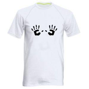 Koszulka sportowa męska Kolorowe dłonie