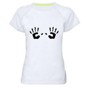 Koszulka sportowa damska Kolorowe dłonie
