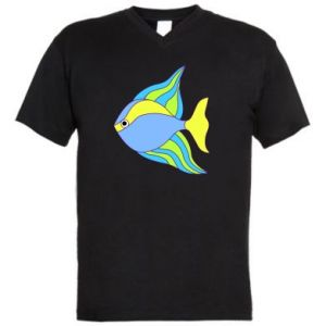 Men's V-neck t-shirt Colorful fish