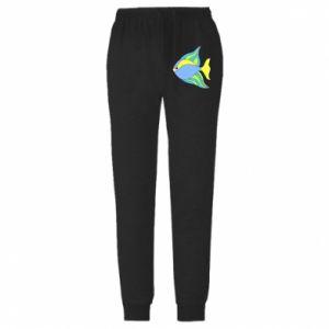 Spodnie lekkie męskie Kolorowe ryby