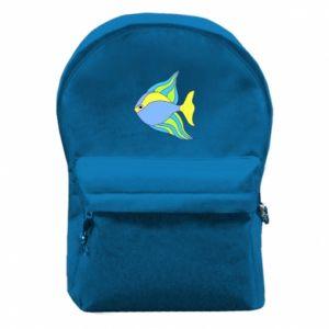 Plecak z przednią kieszenią Kolorowe ryby