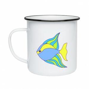 Enameled mug Colorful fish