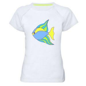 Women's sports t-shirt Colorful fish