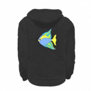 Kid's zipped hoodie % print% Colorful fish