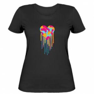 Koszulka damska Kolorowe serce