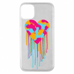 Etui na iPhone 11 Pro Kolorowe serce