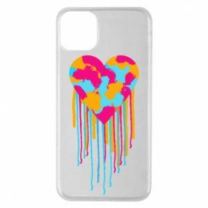 Etui na iPhone 11 Pro Max Kolorowe serce