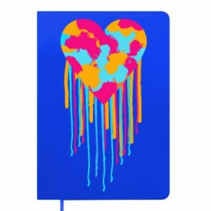 Notepad Colored heart