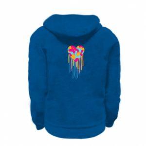 Bluza na zamek dziecięca Kolorowe serce