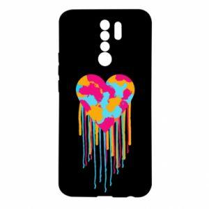 Etui na Xiaomi Redmi 9 Kolorowe serce