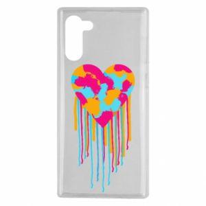 Etui na Samsung Note 10 Kolorowe serce