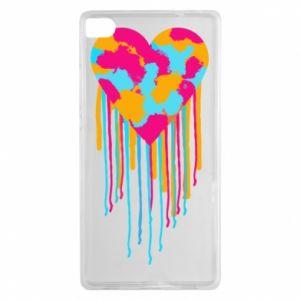Etui na Huawei P8 Kolorowe serce