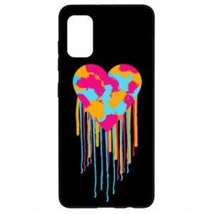 Etui na Samsung A41 Kolorowe serce