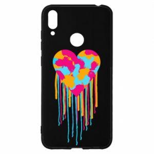 Etui na Huawei Y7 2019 Kolorowe serce