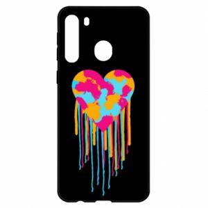 Etui na Samsung A21 Kolorowe serce