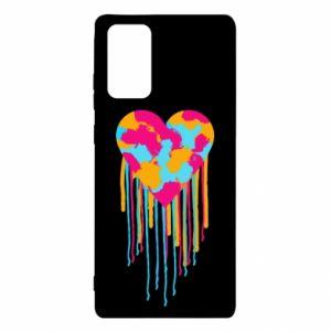 Etui na Samsung Note 20 Kolorowe serce