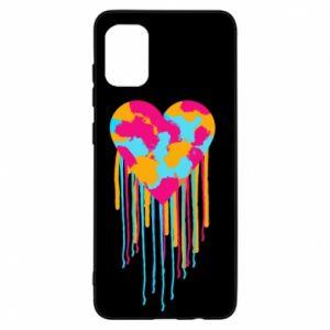 Etui na Samsung A31 Kolorowe serce