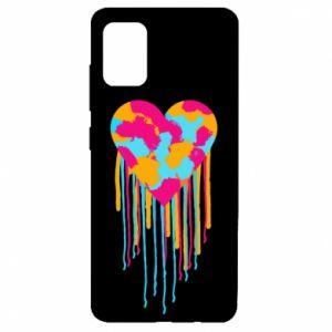 Etui na Samsung A51 Kolorowe serce