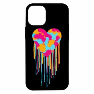Etui na iPhone 12 Mini Kolorowe serce
