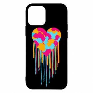 Etui na iPhone 12/12 Pro Kolorowe serce