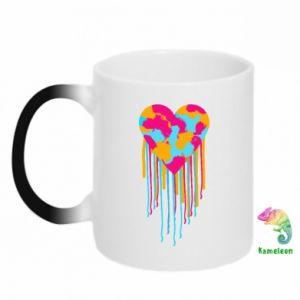 Kubek-kameleon Kolorowe serce