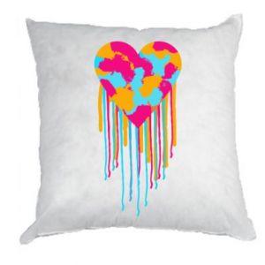 Poduszka Kolorowe serce
