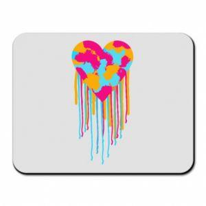 Podkładka pod mysz Kolorowe serce