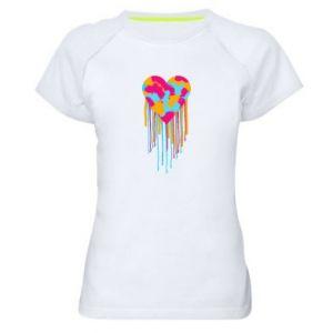 Koszulka sportowa damska Kolorowe serce