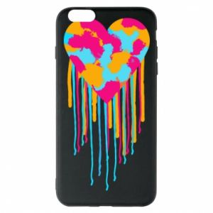 Etui na iPhone 6 Plus/6S Plus Kolorowe serce