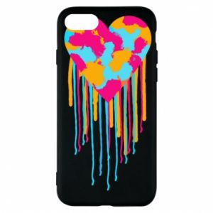 Etui na iPhone 7 Kolorowe serce