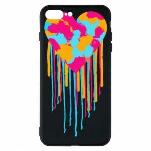 Etui do iPhone 7 Plus Kolorowe serce