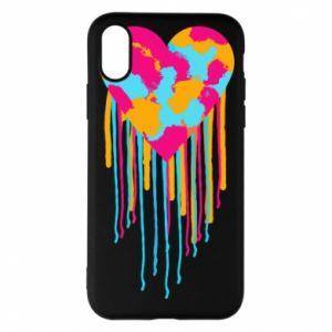 Etui na iPhone X/Xs Kolorowe serce