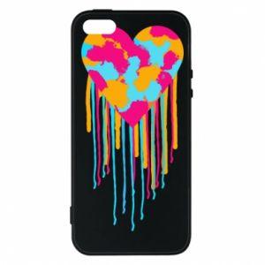 Etui na iPhone 5/5S/SE Kolorowe serce