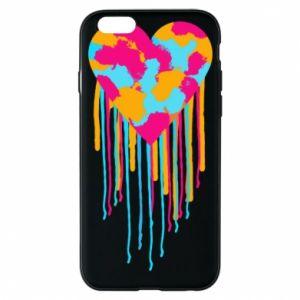 Etui na iPhone 6/6S Kolorowe serce