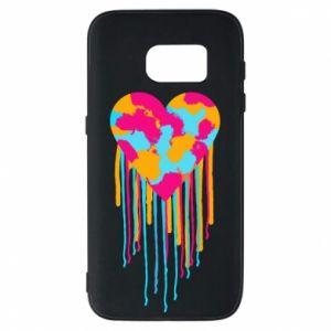 Etui na Samsung S7 Kolorowe serce