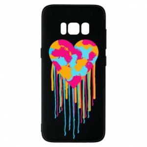 Etui na Samsung S8 Kolorowe serce