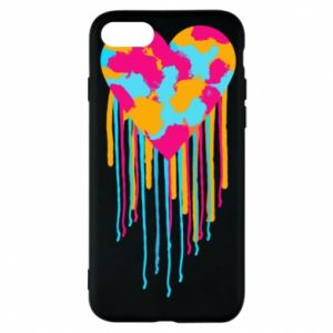 Etui na iPhone 8 Kolorowe serce