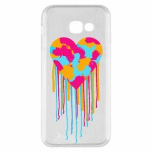 Etui na Samsung A5 2017 Kolorowe serce