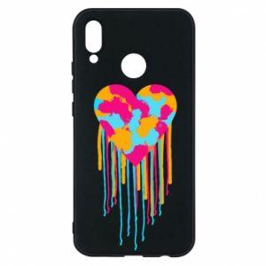 Etui na Huawei P20 Lite Kolorowe serce