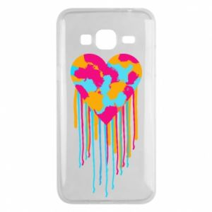 Etui na Samsung J3 2016 Kolorowe serce
