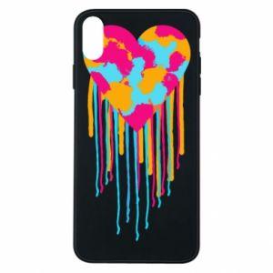 Etui na iPhone Xs Max Kolorowe serce