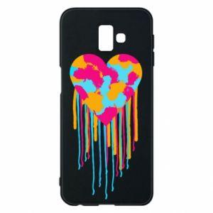Etui na Samsung J6 Plus 2018 Kolorowe serce