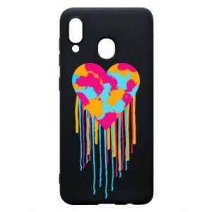Etui na Samsung A20 Kolorowe serce