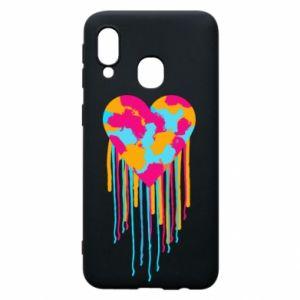 Etui na Samsung A40 Kolorowe serce