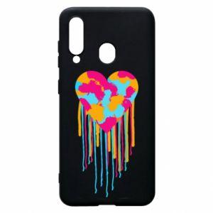 Etui na Samsung A60 Kolorowe serce