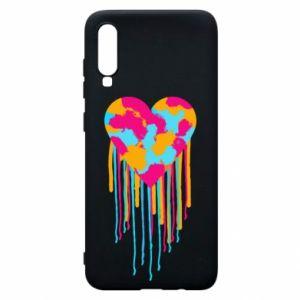 Etui na Samsung A70 Kolorowe serce