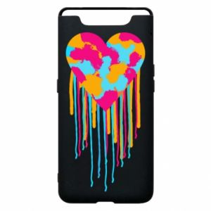 Etui na Samsung A80 Kolorowe serce